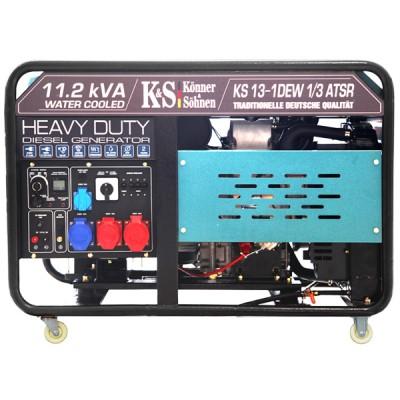 Дизельный генератор Konner & Sohnen KS 13-1DEW 1/3 ATSR