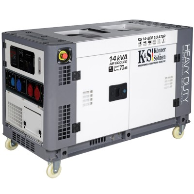 Дизельный генератор Konner & Sohnen KS 14-2DE 1/3 ATSR