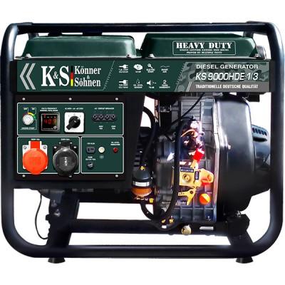 Дизельный генератор Konner & Sohnen KS 9000HDE-1/3 «HEAVY DUTY»