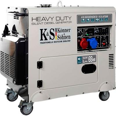 Дизельный генератор Konner & Sohnen KS 8200HDES-1/3 ATSR «HEAVY DUTY»