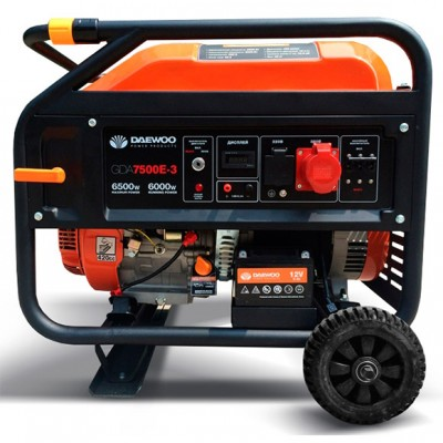 Бензиновый генератор Daewoo GDA7500E-3